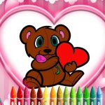 Animals Valentine Coloring