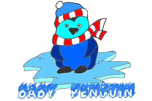 Image Baby Penguin Coloring