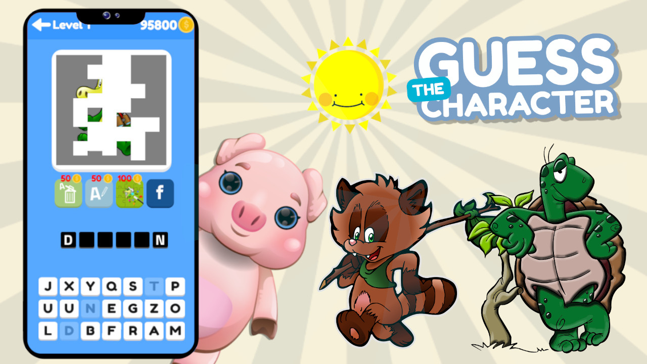 Image Guess the Character Word Puzzle Game